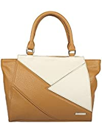 Osaiz Multi Colored PU Leather Hand Bag With 3 Compartments Zipper Style For  Women  1ee7de296eedb