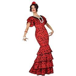 Atosa- Disfraz rumbera, Color rojo, XL (15589)
