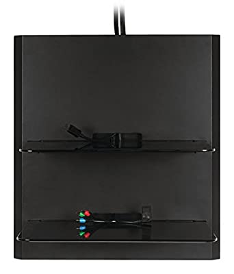 Omnimount 2 AV Equipment Shelf Wall System with Cable Management - Black - cheap UK light shop.