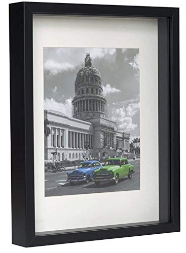 BD ART Marco 28 x 35 cm Box 3D Fotos Color Negro Paspartu