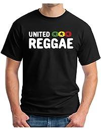 OM3 - UNITED REGGAE BLACK - T-Shirt ROOTS RAGGA RASTA MUSIC SKA DOPE KUSH SWAG, S - 5XL, black