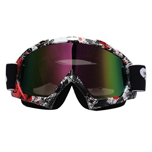 Possbay Possbay Verchromt Faltbar Schutzbrille Brille Für Wandern Klettern SKI RAD Motorrad Motocross-Schutzbrille Wind- und Staubabweisend UV #6