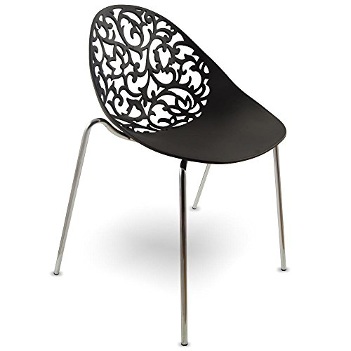 mojoliving MOJO Kunststoff Stuhl Lounge Retro Stühle Vintage S06