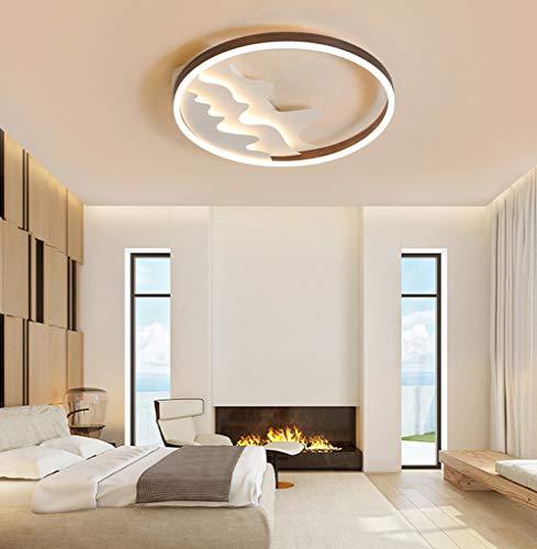 35W Modern LED Deckenleuchte Runde Kreative Design Schlafzimmer Lampe Aluminium Acryl Lampenschirm Innenbeleuchtung für Wohnzimmer Studio Kinderzimmer Deckenlampe 50CM,Dimmable -