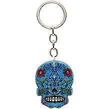 a370cd82d48 Bluebubble DIA DE LOS MUERTOS Porte-clés en forme de crâne en sucre Boîte  cadeau