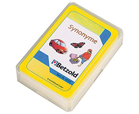 Betzold Übungskarten Synonyme, Wortschatztraining mit Selbstkontrolle - Schule Kinder lernen Deutsch-Unterricht