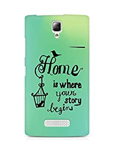AMEZ home is where your story begins Back Cover For Lenovo A2010