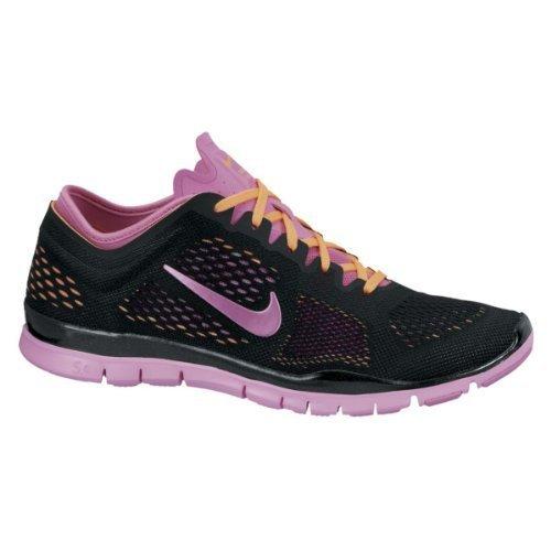 Nike Free 5.0 TR FIT 4 Women Laufschuhe black-red violet-atomic orange- 36