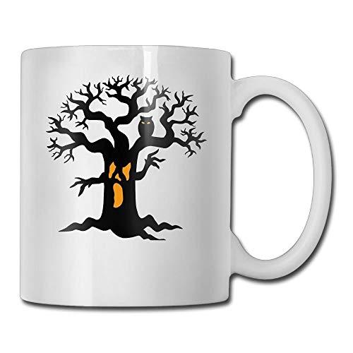 Daawqee Becher Coffee Mug Holloween Tree and Owl Mugs Fashion Ceramic Coffee Tea Cups Double-Side Printing 11oz - Kit Tea Tree