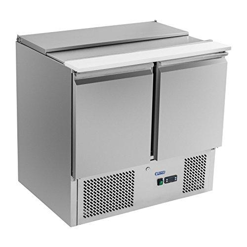 Royal Catering - RCKT-90/70-S - Pizza-Kühltisch mit Arbeitsplatte - 90 x 70 cm