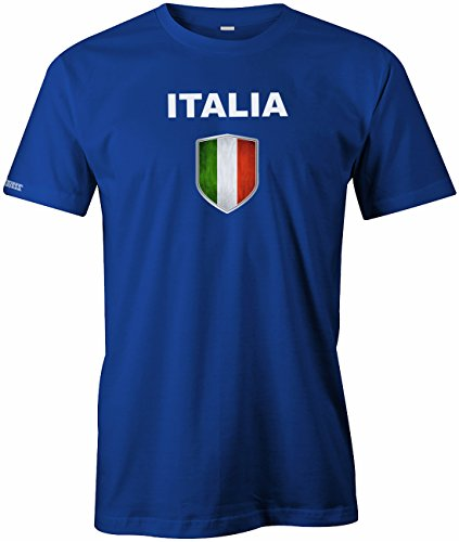 WM 2018 - Italia Wappen - Italien - Herren T-SHIRT in Royalblau by Jayess Gr. 3XL (Italia Wm Italien)