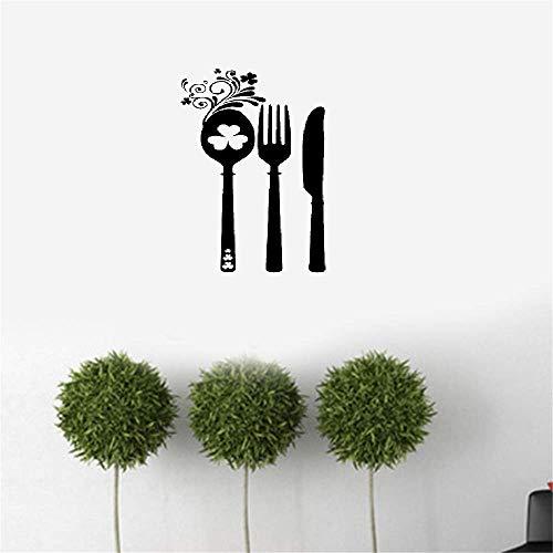 wandaufkleber 3d irisches Besteck Restaurant Küche Home Decor