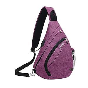 41bT50U kZL. SS300  - SINOKAL Pecho Mochila Bolso Pecho Casual Bandolera Hombro triángulo Paquetes Daypacks para Hombres Mujeres Sling Bolsa…