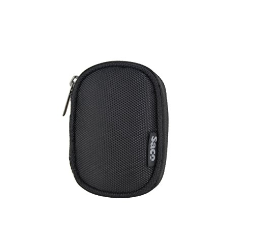 Saco Multi-Purpose Pocket Storage Travel Organizer Holder Carry Case Pouch For Transcend MP350 TS8GMP350B 8 GB Digital Music Player- Black  available at amazon for Rs.197