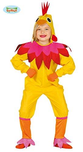 Huhn Kostüm für Kinder Hühnerkostüm Mädchen Henne Hahn Vogel Tier Bauernhof Gr. 98-146, (Kostüm Henne)
