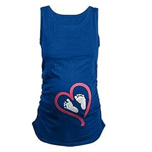QKIM-Camiseta-Divertido-Estampada-de-Sin-MangasManga-CortaManga-Larga-Premam-Para-Mujer-Embarazo-Lactancia-T-Shirt-Serie-de-Huellas