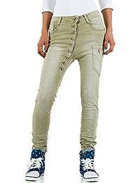 1a19ad034b82 Mozzaar Plus Size Boyfriend Jeans Für Damen , Khaki In Gr. 38 bei Ital-