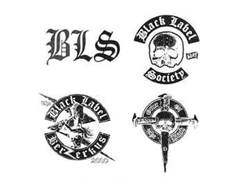 BLACK LABEL SOCIETY 4 TATOUAGES TEMPORAIRE OFFICIEL