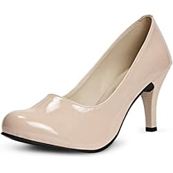 Meriggiare Women's Beige Court Shoe - 3 Uk/ 36 Eu