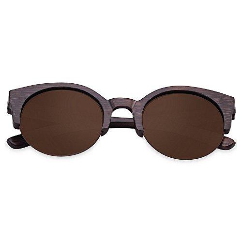 Wxx000 Holz polarisierte Sonnenbrille für männer und Frauen uv blockieren Vintage ovale Sonnenbrille Brillen Mode cat Eye Sonnenbrille