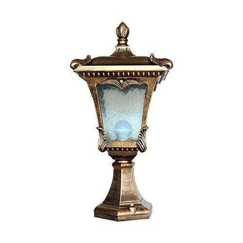 Wasserdichte Garten Lampe, Outdoor Retro Villa Gartenleuchten Säule Lampe Wandleuchte Landschaft Lichter Rasen Licht Einzigen Kopf E27, 58-28-18 CM ( größe : 58-28-18CM ) - 28 Einziges Licht
