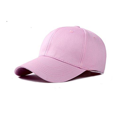JUNGEN Unisex Gorra de Béisbol Ajustable Sombrero de Sol al Aire Libre Sombrero Deportes Casquillo ocasional para primavera verano para Hombres Mujeres (Rosa)