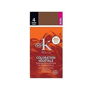 K POUR KARITE Coloration poudre 100% naturelle - Couleur - Châtain moyen n°4 - 30g