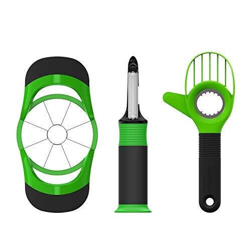 WJJW Kitchen Fruit Tools Gadgets Set, Avocado Slicer, Apple Corer Cutter and Vegetable Peeler - Vegetable Corer