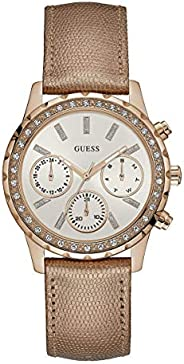 Guess Women's watch Multi-function Display Quartz Movement Leather W09