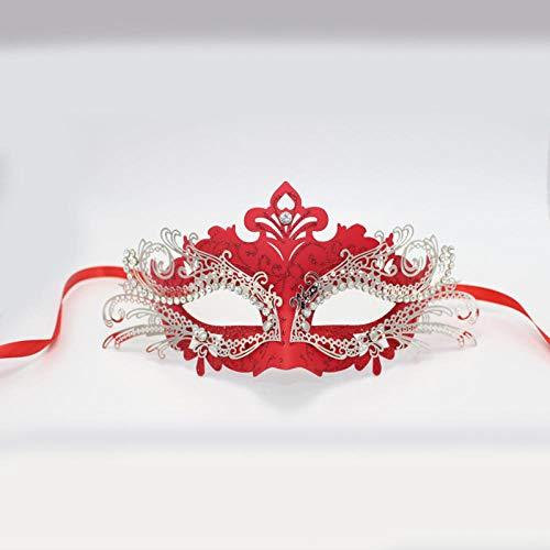 QTJKH Horror Maske Venezianische Maskerade Frauen Halbes Gesicht PVC Ball Party Venezianische Maskerade Maske Hochzeit Halloween Event Geburtstag Kostüm Masken @ G