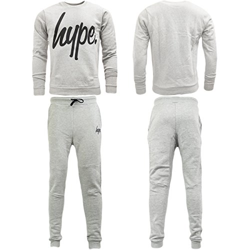 Just Hype -  Tuta da ginnastica  - Basic - Uomo Grey Crew X-Large
