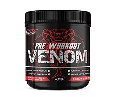 Pre Workout Venom - The No1 Pump Pre Workout Supplement by Freak Athletics - Elite Level Pre Workout Supplement - Pre Workout Powder Made in The UK - Available in Fruit Punch by Freak Athletics