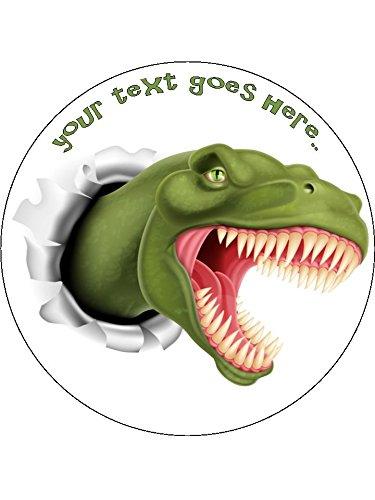 Dinosaurier/T-Rex 19,1cm rund Essbar Geburtstag Kuchen Topper