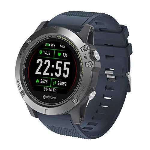 Smartwatch Digitale Sportivo Zeblaze Con Impermeabile IP67, Contapassi, Tracker Fitness, Promemoria Chiamate, Orologi Da Polso Compatibili Per Android E IOS (172 * 120 * 30mm / 6.77 * 4.72 * 1.18in)