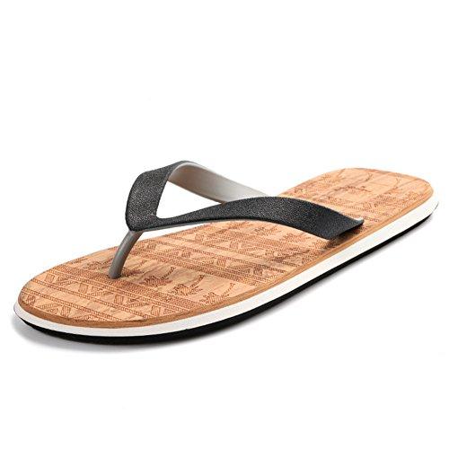 Leichte atmungsaktive herren flip flops/Sommer rutschfest mit sandalen/Strand hausschuhe B