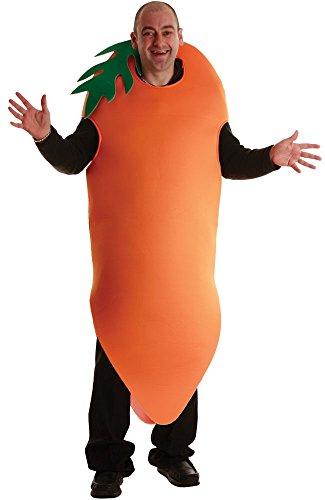 Erwachsene Unisex Crazy Karotte Kostüm Outfit für Halloween Kostüm Herren Damen (Karotte Unisex Für Erwachsene Kostüm)