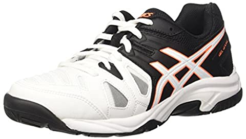 Asics Gel-game 5 Gs, Unisex Kids' Sneakers, Off White (White/onyx/shocking Orange), 2 UK (35 EU)