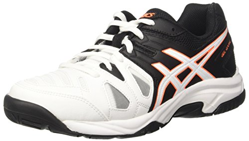 Asics Gel-Game 5 Gs, Zapatillas de Tenis, Infantil, Blanco (White/Onyx/Shocking Orange), 36 EU