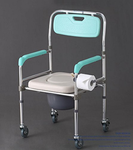 YYY-Generico vecchio con le donne in gravidanza seduti intorno sedile del water in lega di alluminio sedia pieghevole per doccia servizi igienici per disabili sgabello toilette