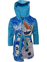 Disney Frozen Olaf Niños Suave paño grueso y con capucha Bata de baño / Albornoz Turquesa