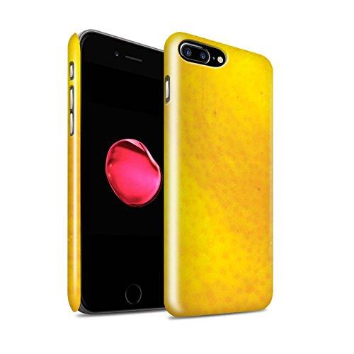 STUFF4 Glanz Snap-On Hülle / Case für Apple iPhone 8 Plus / Orange Peel / Haut Muster / Obst Kollektion Orange Peel / Haut