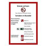 Brandschutzordung Aushang Brandschutz nach DIN 14096 Folie #45-106-0001