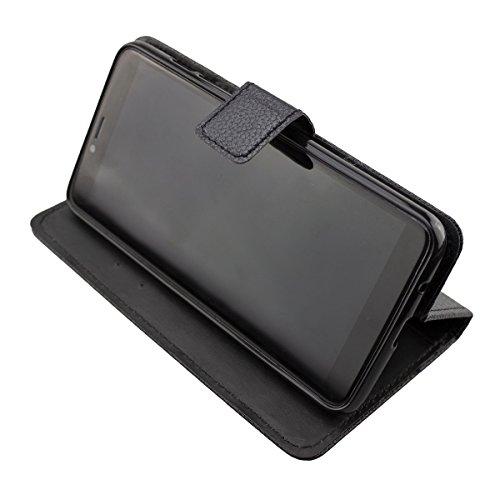 caseroxx Tasche Case Hülle Bookstyle-Case für Archos Core 57s in schwarz
