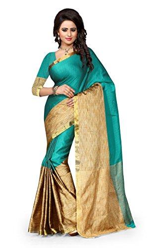 Vatsla Enterprise Women\'s Cotton Saree (VTSENAURA002RAMA_RAMA)