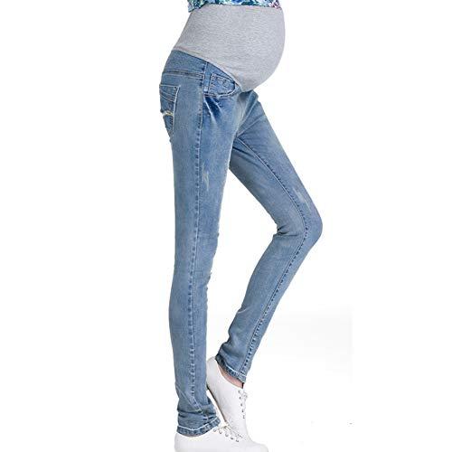 Hzjundasi donna leggings jeans premaman maternità pantaloni elastica cura del ventre