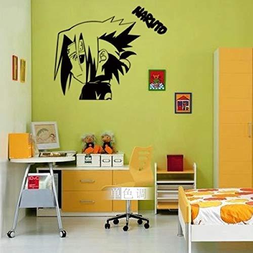 jiushizq Sasuke Und Kreative Persönlichkeit Im Jugendzimmer Kinderzimmer Wohnzimmer Sofa Hintergrund Wandaufkleber Weiß 57x60cm -