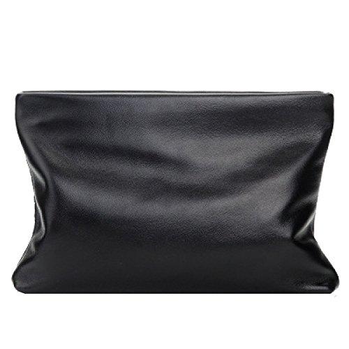 Yy.f Pelle Modelli Esplosione Uomini Di Frizione Sacchetto Casuale Di Affari Di Pecora Mano Sacchetto Degli Uomini Primo Strato Di Pelle Pochette Grande Capacità Black