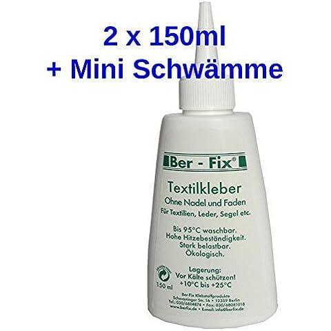 2 x 150 ml pegamento (unidades 2 Mini esponja con foxfix hervir-prueba con instrucciones