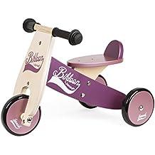 Janod - Bicicleta sin pedales Bikloon, color violeta / rosa (J03260)
