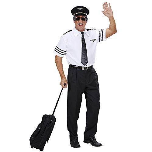 Air Force Kostüm - Widmann 74802 - Piloten-Set, Hemd, Mütze und Krawatte, Größe M